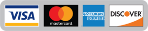 Image of Visa, MasterCard, AmEx and Discover cards