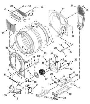 Exploded view of dryer